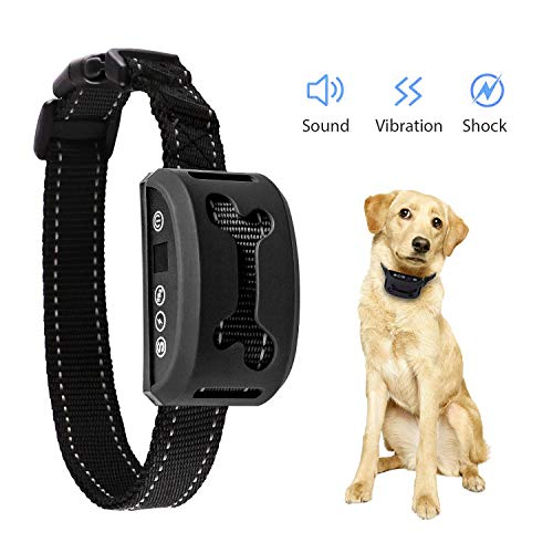 Dog Training Collar, Rechargeable and Rainproof Anti Bark Collar for Small Medium and Large Dogs, Fast No Barking Training Device for Every Dog Owner