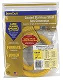 BrassCraft CSSC91E-36 P 5/8-Inch, Female Flare EFV x 3/4-Inch MIP x 36-Inch Safety+PLUS Gas Connector, 5/8-Inch, OD 125,000 BTU