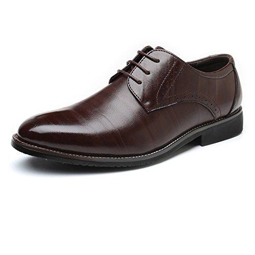 da Scarpe Upper Classic traspirante da Dimensione EU fodera 40 PU Pelle shoes Up Lace Jiuyue Uomo Color Leather da Scarpe uomo Fodere in 2018 uomo lavoro Matte Marrone Orange q4OH0Ec