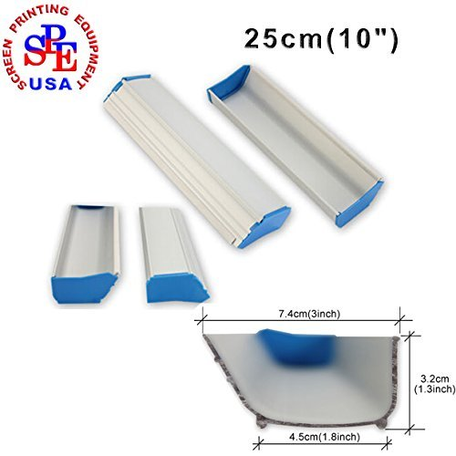 10inches(25cm) Silk Screen Printing Emulsion Scoop Coater Aluminum Coating Tools DIY by Screen Printing Consumables