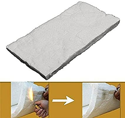 Fireplaces USA Made Ceramic Fiber Insulation Blanket Plus Free Gift !! Ovens 8 Lbs Density, for Thermal Insulation in Stoves Forges 1 x 24 x 24 Furnace and More. Kilns