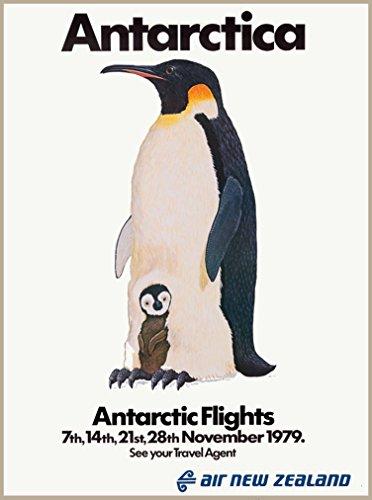antarctica-air-new-zealand-penguin-baby-vintage-travel-advertisement-poster
