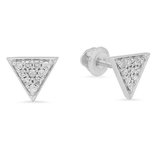 0.20 Carat (ctw) 14K White Gold Round Cut Diamond Ladies