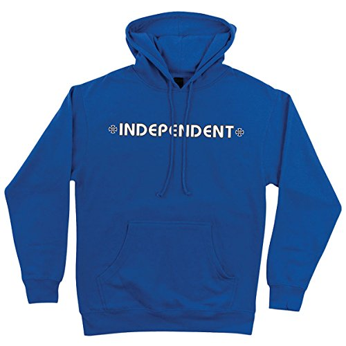 Independent Mens Bar Cross Hoody Pullover Sweatshirt Large Royal Blue
