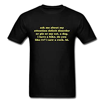 Attention Deficit Disorder Men's T-Shirt by Spreadshirt, S, black