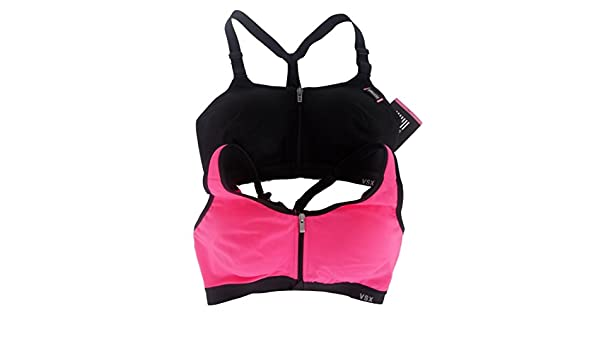 805371f8d1 Amazon.com  Victoria s Secret Knockout Front Close Sport Bra Bundle of 2 NWT  32C  Clothing