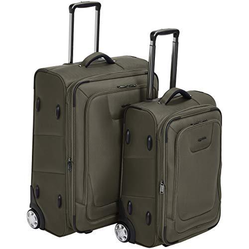 (AmazonBasics Premium Upright Expandable Softside Suitcase with TSA Lock 2-Piece Set - 22/26-Inch,)