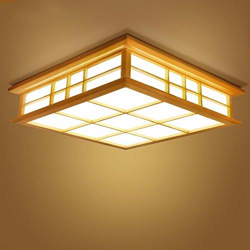 Gqlb Im Japanischen Stil Lampe Decke 24 W Massivholz Lampe Und