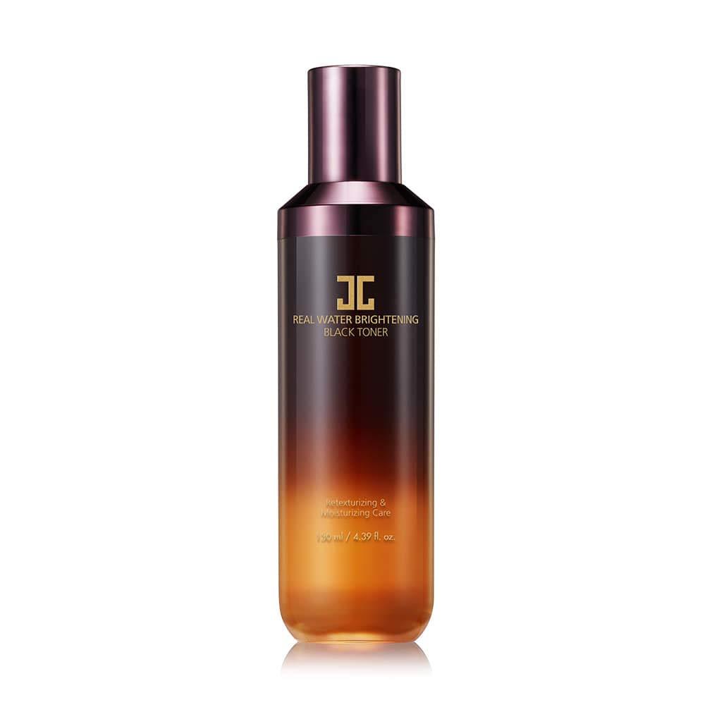 JAYJUN Real Water Brightening Black Toner. 4.39 fl. oz, 130ml, Ceramide, Jeju Lava Seawater, Hydrating, Radiance, Daily