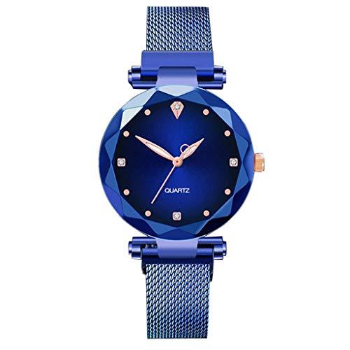 (XBKPLO Watch for Women Wrist Watches Diamond Casual Simple Small Fresh Fashion Quartz Watch Mesh Belt Gift)