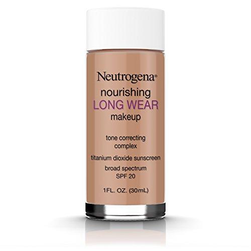 Neutrogena Nourishing Long Wear Liquid Makeup Foundation With Sunscreen, 135 Chestnut, 1 Fl. Oz. (pack of 2)