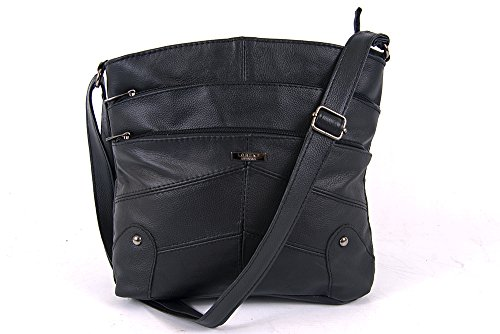 100 Soft Lorenz 100 Black Lorenz Soft shoulder leather fine shoulder leather 3741 handbag fine xHwqnqSR