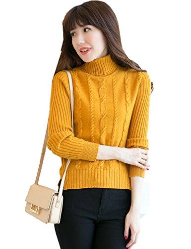 Lambswool Refill (Xiouli Women's 100% Pure Lambswool Turtleneck Sweater 99W07 (XL,yellow))