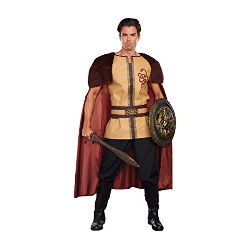 Dreamgirl Men's Voracious Viking Costume, Brown/Beige, Medium (Adult Viking Costumes)
