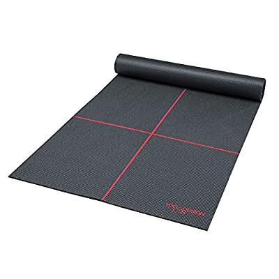 Eco Yoga Mat w/ Carrying Strap. Lightweight, Premium Yoga Mat Designed to Improve Your Practice! Perfect Thickness, Non-slip, Extra-long, High Impact Memory Foam. Water Based Inks. Money Back Guarantee.