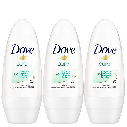 Dove Deo Roll-On Pure, 3er Pack (3 x 50 ml)