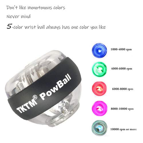 TKTM Pattern Auto Start Powball Arm Strengthener Essential Gyroscopic Wrist Rotate Power Strengthener Gyroscopic Wrist and Forearm Exerciser Ball