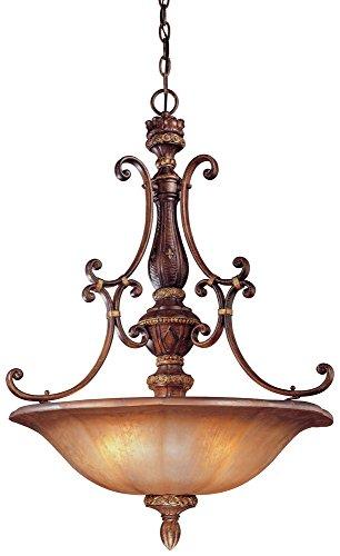 Minka Lavery 1354-177 Illuminati - Four Light Pendant, Bronze Finish with Silver Patina Glass - 177 Illuminati Bronze Finish