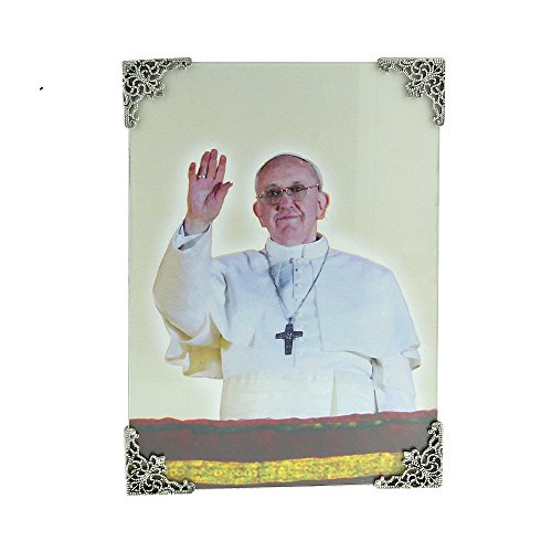 """The Vatican Library Collection Pope Francis Commemorative Silver-Tone Filigree Frame (5""""x7"""")"""