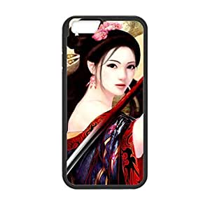 """Cool Comely Girl With Sword Image Designed for iPhone 6 (4.7"""") Only Case Cover Laser Technology"""