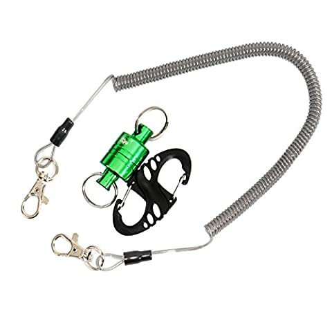 SF Strongest Magnetic Release Holder with Cord 12 LB - Green - Mesh Wader Bag