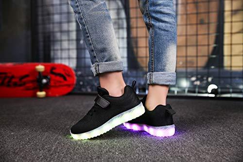 Sneakers Running Scarpe Luminosi Traspirante Colori Sport Ansel 7 E Per Ragazzi Sportive Led Shoes Ultraleggero 1 Ragazze Nero Baskets Usb Basso uk Bambini Carica Lampeggiante wff6aZ