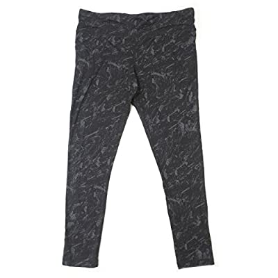 Hot Kirkland Signature Ladies' Size X-Large Active Legging, Black/Grey for cheap