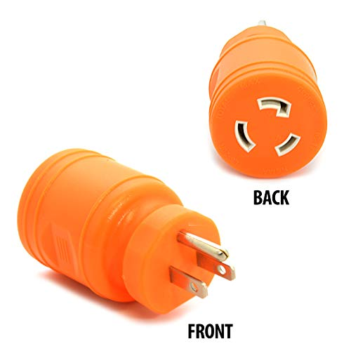 Ceptics L5-20R Female to NEMA 5-15p Male Plug Adapter, Attachment Locking Connector 20 Amp to 15 Amp ()