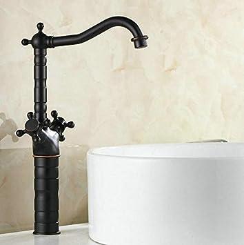 Tour Meler nuevo negro latón antiguo Dual Mango cuarto de baño ...