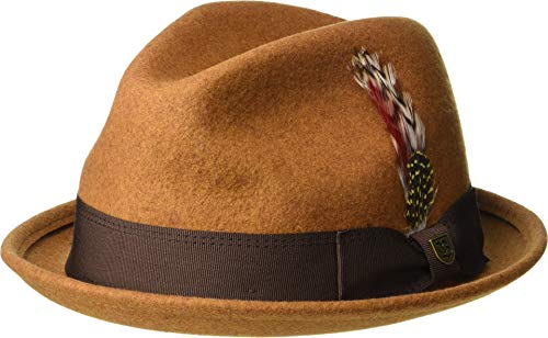 Brixton Fedora Gain - Brixton Men's Gain Fedora Heather Coffee XL (7 3/4)
