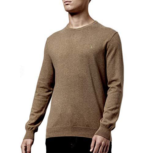 Pull Marron Homme V Ralph Lauren Pour Coton Col En Pima 6xnvHAq