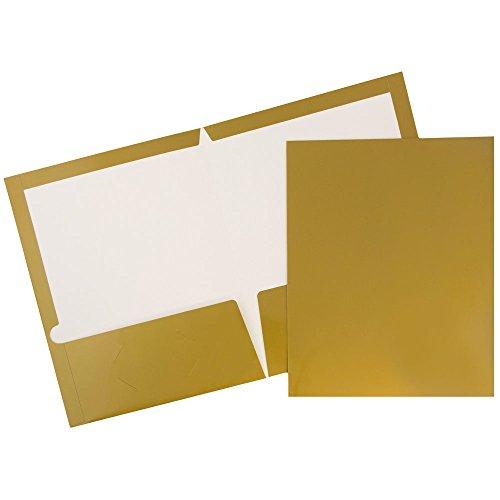 UPC 799418495583, JAM Paper Two Pocket Glossy Presentation Folders - Gold - Pack of 6 Folders