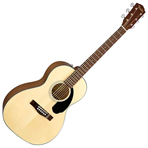 Fender CP-60S Parlor Acoustic Guitar, 20 Frets, Easy-to-Play' Shape Neck, Rosewood Fingerboard, Gloss, Natural