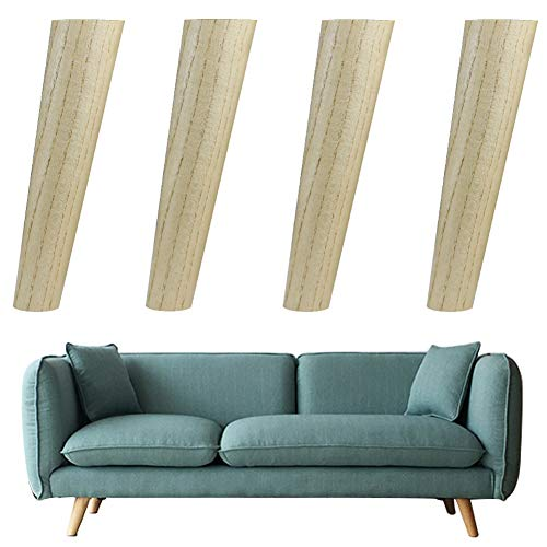 - Furniture Legs (4 Pieces) Solid Wood Oblique Cone Sapele Wood,Sofa TV Cabinet Coffee Table Support Legs,Replace The Leg(17/19/24cm)