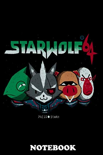 Notebook: Star Wolf 64 , Journal for Writing, College Ruled Size 6