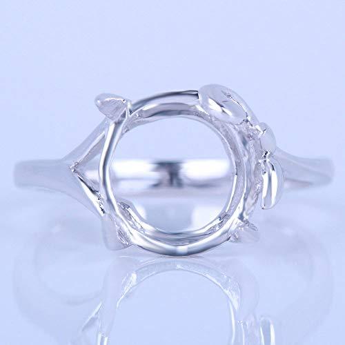 (FidgetFidget 8x10-9x11mm Oval Sterling Semi Mount Fine Ring Setting Used Fine Jewelry)
