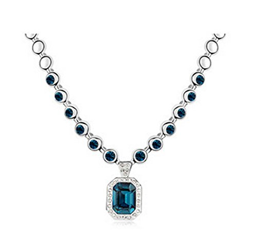 Gabriella Fashion Doll (Gorgeous Jewelry Rhine Riner Bank Austrian Crystal Deluxe Blue of Nobility Pendant Necklace)