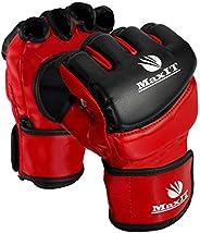 MaxIT MMA Gloves for Men & Women   Professional Fingerless Punching Bag Boxing Gloves for Combat Training,