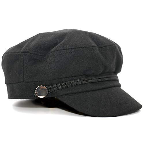 5f1142d97d65d Amazon.com  accsa Women Bakerboy Wool Blend Fashion Black Grey Cabbie  Newsboy Beret Cap  Clothing