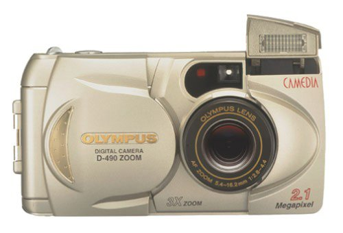 - Olympus D-490 2.1MP Digital Camera w/ 3x Optical Zoom