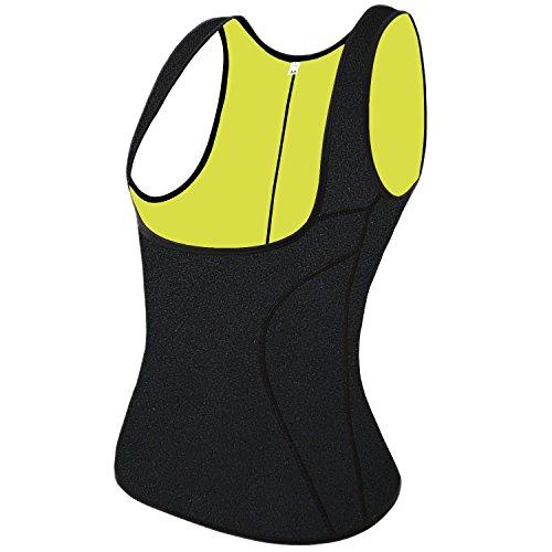 QEESMEI Waist Trainer Corset Vest for Weight Loss Hot Body Shaper Sauna Slimming Vest for Women