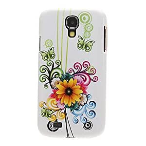 WEV Sorts of Flowers Drawing Pattern Plastic Hard Back Case Cover for Samsung Galaxy S4 I9500