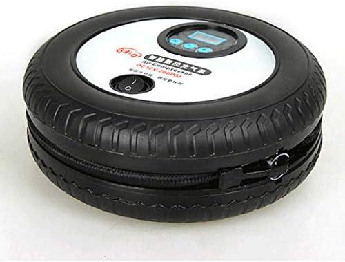 H HILABEE 自動車用 自動空気圧縮機 タイヤインフレータ 12V DC 電気自動車タイヤポンプ デジタル圧力計 読みやすい