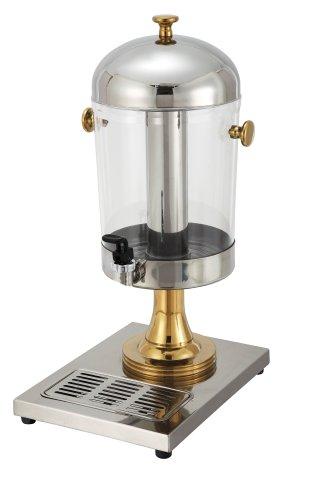 Winco Juice Dispenser with Gold Accents, 7-1/2-Quart