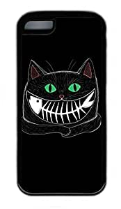 iPhone 5C Case, Personalized Protective Rubber Soft TPU Black Edge Case for iphone 5C - Cat Fish Cover