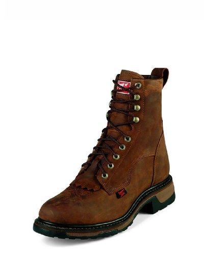 Tony Lama Men's Steel Toe Lacer TW2004 Work Boot,Tan Cheyenne,11 D - Steel Lacer Toe Boots