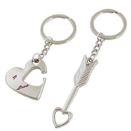 Sonline Lover Keychain Keyring Couples