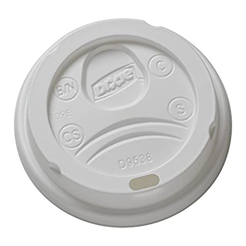 Dixie 9538DX Drink-Thru Lid, Fits 8 Oz Hot Drink Cups, White (Case of 1000) - Fits 8 Ounce Cups