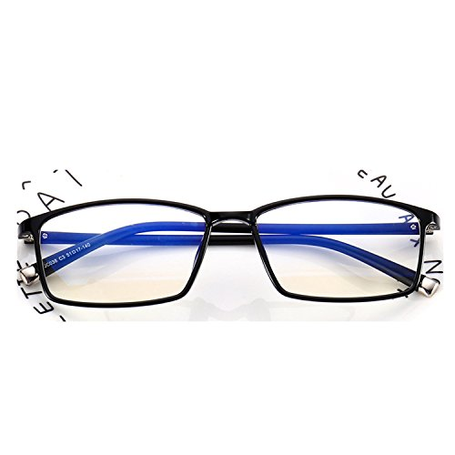 Glasses frame with myopic frames Women's flat mirror shop 038,Sand black box red leg ()