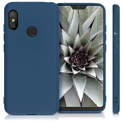 kwmobile TPU Silicone Case Compatible with Xiaomi Redmi 6 Pro/Mi A2 Lite - Soft Flexible Protective Phone Cover - Navy Blue